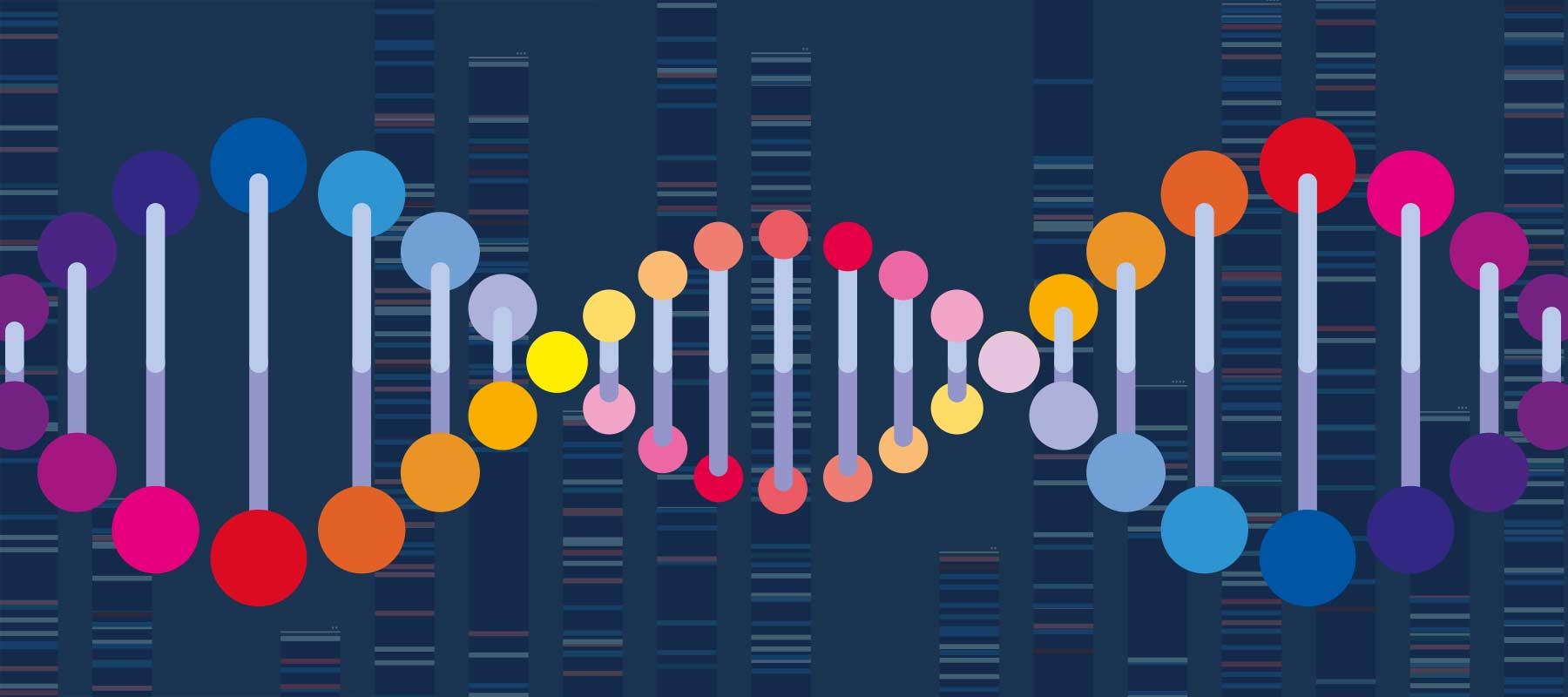 Image of DNA strand and code for article on DNA extraction methods.